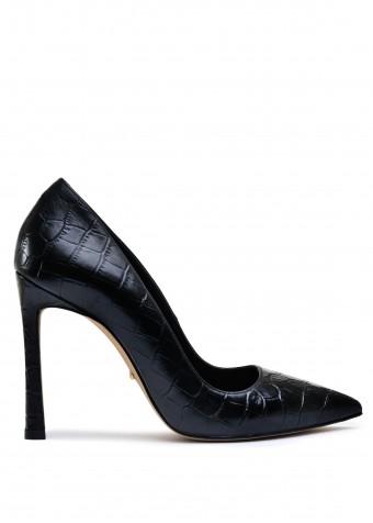 158601 Туфлі з натуральної шкіри на високих підборах