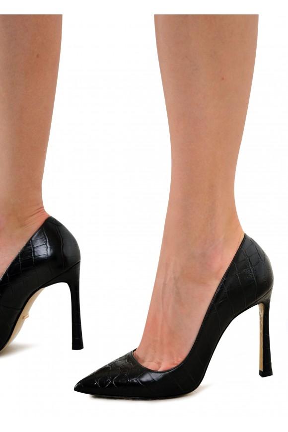 158601 Туфли из натуральной кожи на высоком каблуке