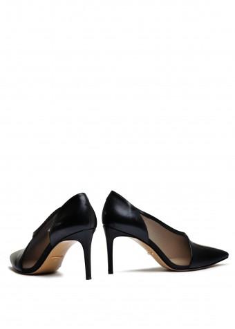 727101 Комбіновані чорні туфлі