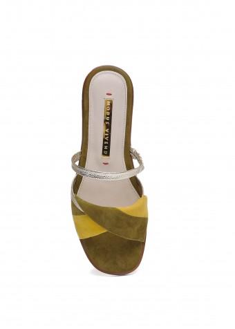 511001 Замшеві сандалі