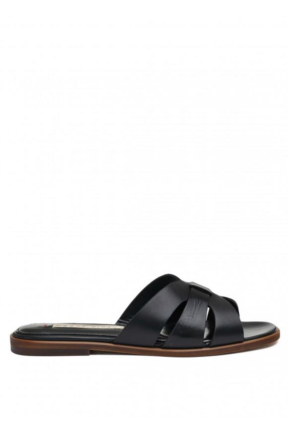 511301 Черные кожаные пантолеты