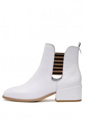 024761 Белые кожаные ботинки