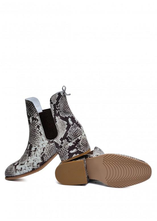 024781 Стильные кожаные ботинки