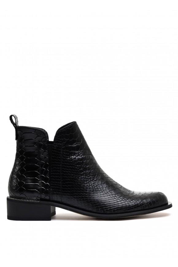 531284 Черные кожаные ботинки