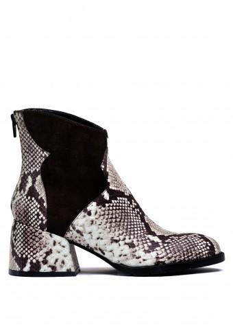 425751 Стильные кожаные ботинки с принтом под рептилию