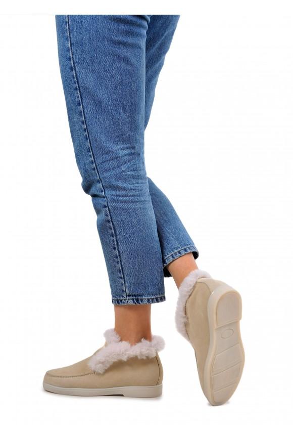 329921 Замшевые зимние ботинки