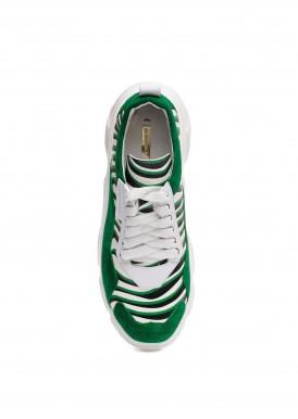 566563 Стильные кожаные кроссовки