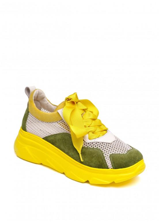 569802 Летние кожаные кроссовки