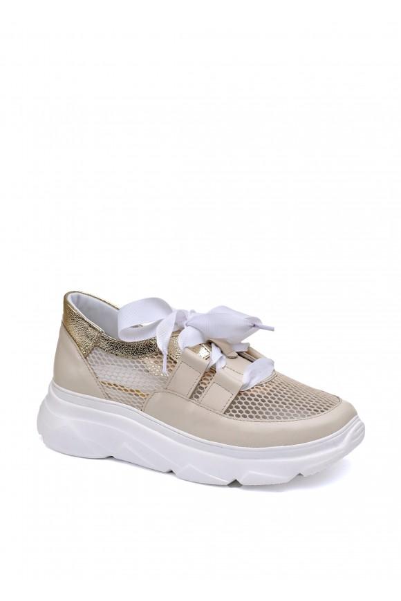 566733 Кожаные кроссовки