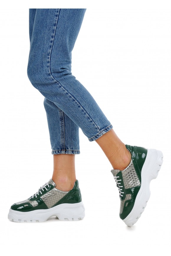 568614 Кожаные кроссовки