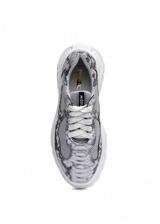 569104 Стильные кожаные кроссовки