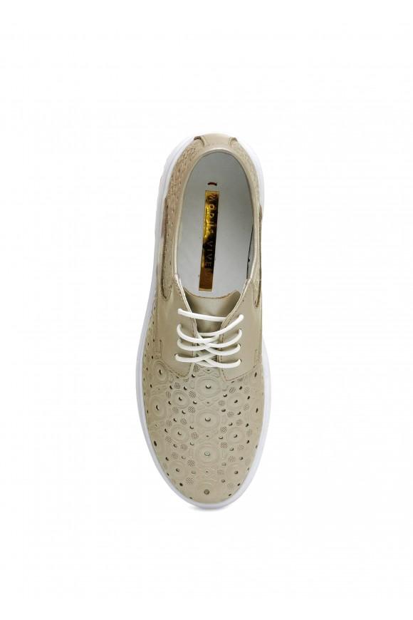 910021 Літні шкіряні туфлі