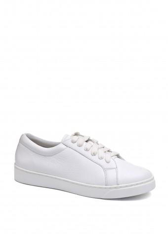 910403 Белые кожаные кеды