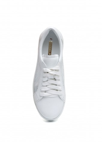 910903 Белые кожаные кеды