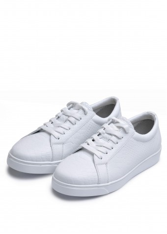910433 Белые кожаные кеды
