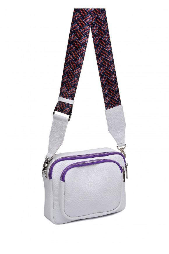 10411 Летняя кожаная сумка