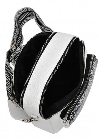 10412 Белая кожаная сумка