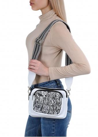 10412 Біла шкіряна сумка
