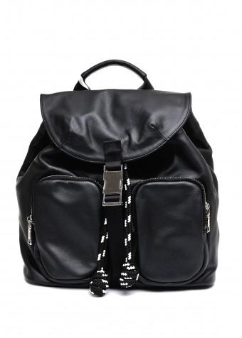 10581 Чорний шкіряний рюкзак