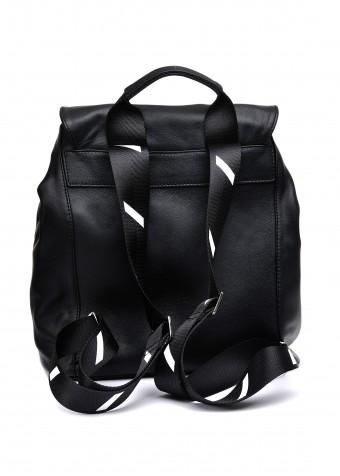 10581 Черный кожаный рюкзак