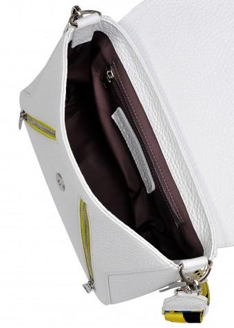 10591 Шкіряна біла сумка