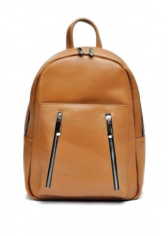 10622 Кожаный бежевый рюкзак