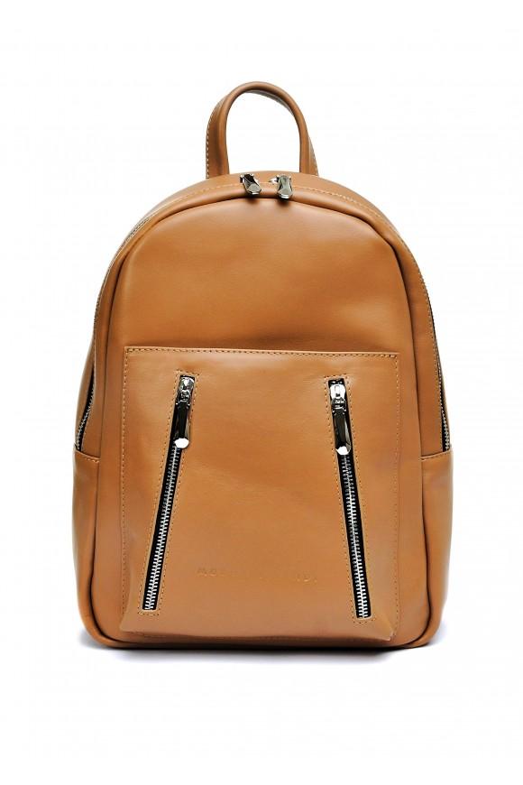 10622 Шкіряний бежевий рюкзак
