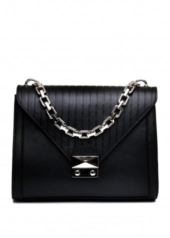 10771 Чорна шкіряна сумка