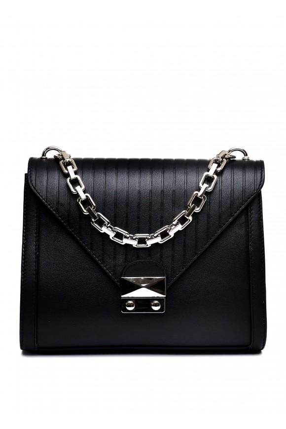 10771 Черная кожаная сумка
