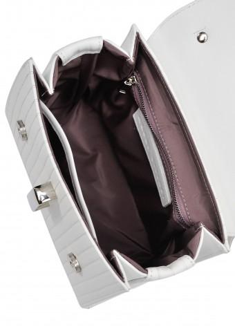 10782 Біла шкіряна сумка