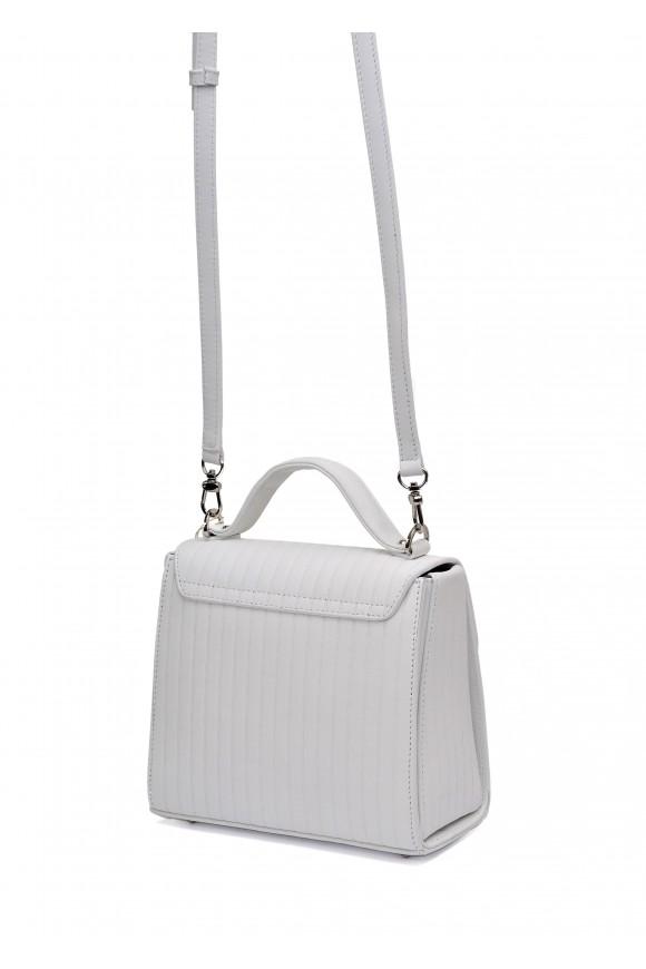 10782 Белая кожаная сумка