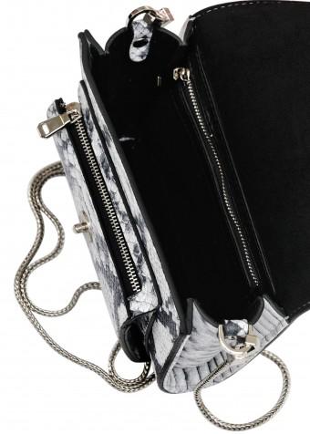 10843 Кожаная ременная сумка с анималистическим принтом