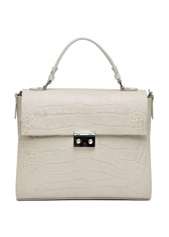 10851 Кожаная светлая сумка