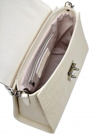 10851 Шкіряна світла сумка