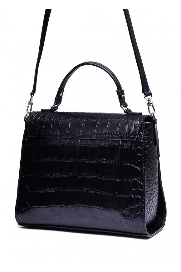 10852 Чорна шкіряна сумка