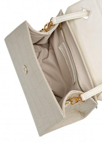 11031 Светлая кожаная мини-сумка