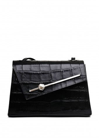 11032 Черная кожаная мини-сумка