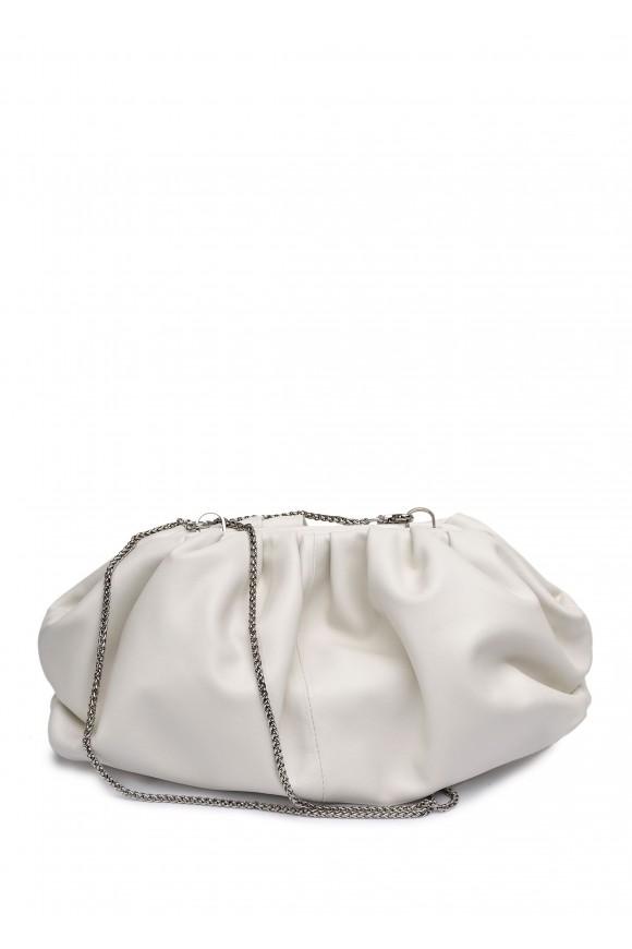 11041 Бежева шкіряна сумка