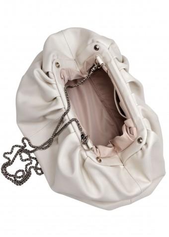 11041 Бежевая кожаная сумка