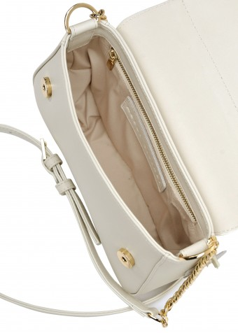 11082 Кожаная светлая сумка