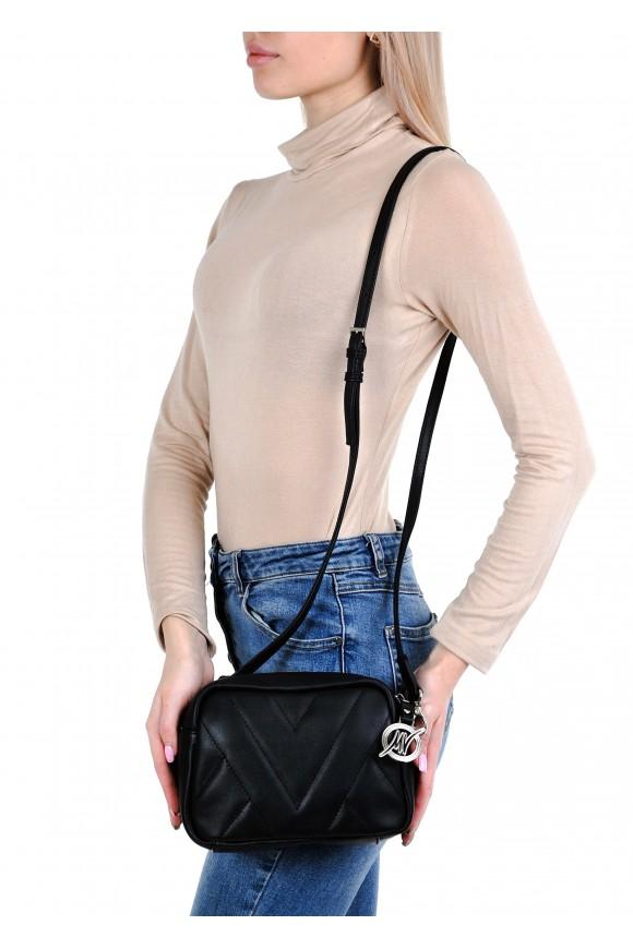 11133 Чорна шкіряна сумка