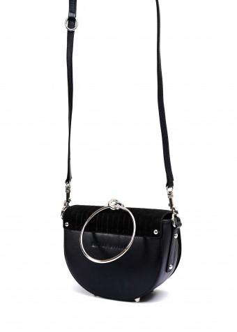11161 Чорна шкіряна сумка