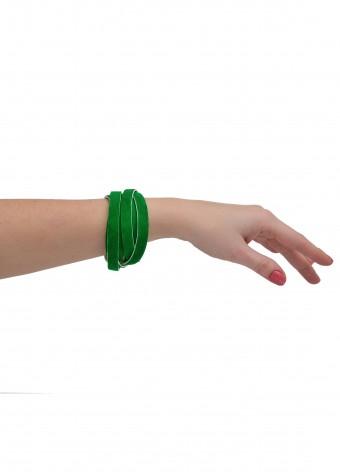 77723 Зеленый замшевый браслет