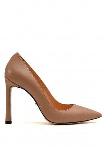 158311 Бежеві шкіряні туфлі