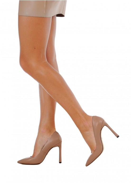 158311 Бежевые кожаные туфли