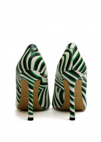 158321 Яркие кожаные туфли