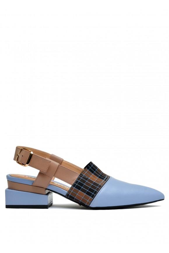 314001 Кожаные туфли с открытой пяткой