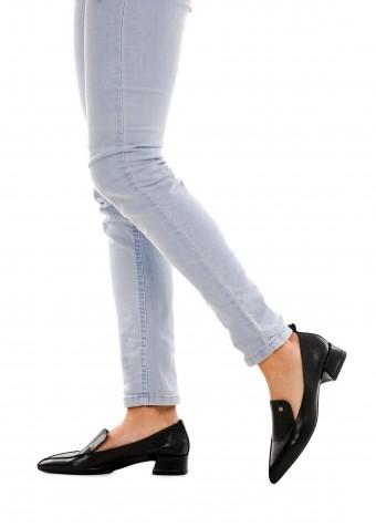 393002 Чорні шкіряні туфлі