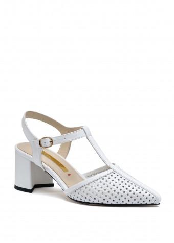 718301 Белые кожаные туфли