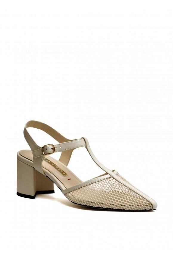 718321 Летние бежевые туфли